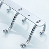 Vintage Chrome Silver 4 Hooks Cloths Robe Hooks Bathroom