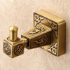 Single Antique Brass Cloths Bathroom Robe Hooks