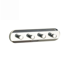 Modern 4 Hooks Chrome Wall Mount Bathroom Robe Hooks