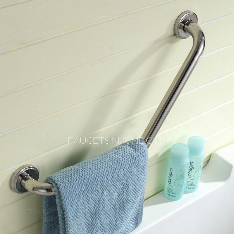 First Tub Stainless Steel L Shaped Angled Grab Bar