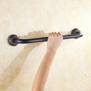 Black Oil Rubbed Bronze Carved Bath Grab Bar Bathroom