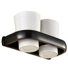 Chic Black Oil Rubbed Bronze Ceramic Wall Mount Toothbrush Holder