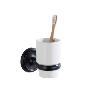 Chic Stainless Steel Black Oil Rubbed Bronze Toothbrush Holder Wall