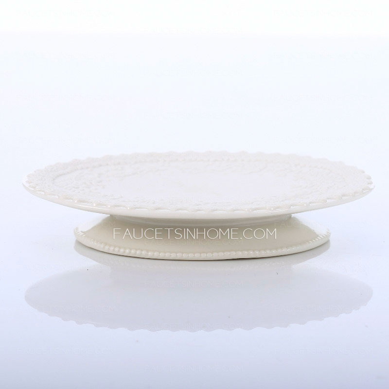 Handmade Decorative White Ceramic Soap Dishes