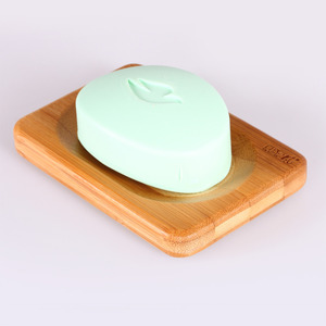 Square Shaped Bamboo Wholesale Soap Dishes