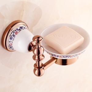 Rose Gold Porcelain Decorative Shower Soap Dishes For Bathroom