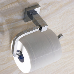 Wall-Mount Metal Chrome Toilet Paper Roll Holders