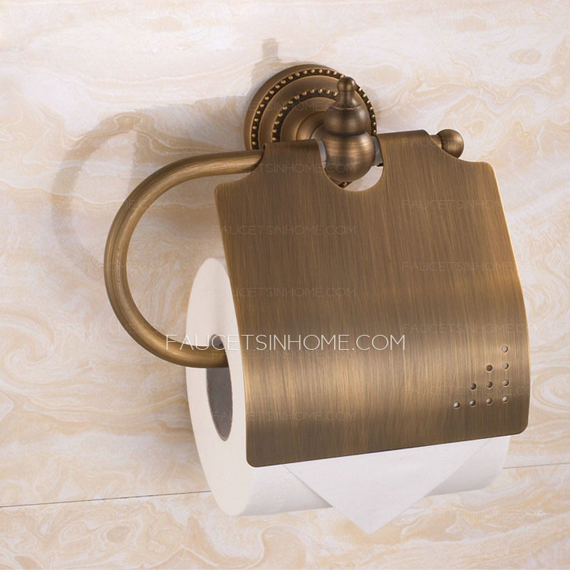 Vintage antique brass toilet paper roll holders Antique toilet roll holders