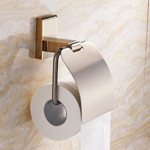Golden Wall Mounted Bathroom Toilet Paper Roll Holders