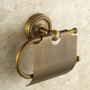 Brass Wall Mounted Antique Toilet Paper Roll Holders