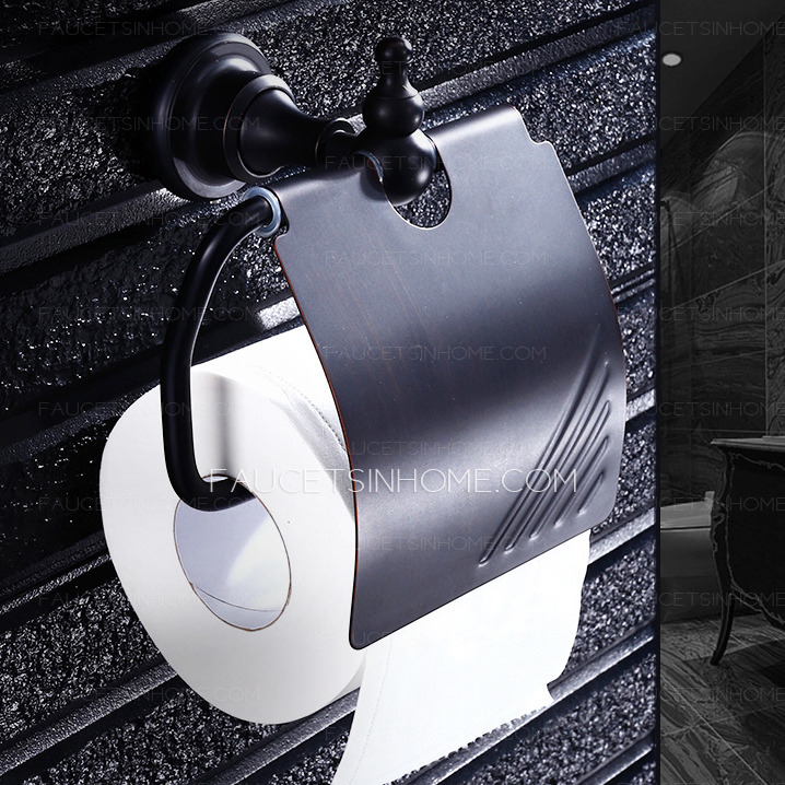 black bronze toilet paper holder