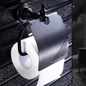 Black Wall Mount Oil Rubbed Bronze Toilet Paper Holder