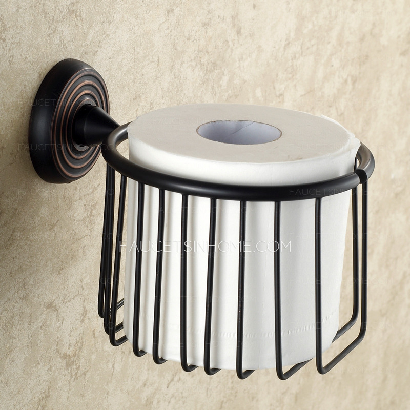 black oil rubbed bronze toilet paper basket holder. Black Bedroom Furniture Sets. Home Design Ideas
