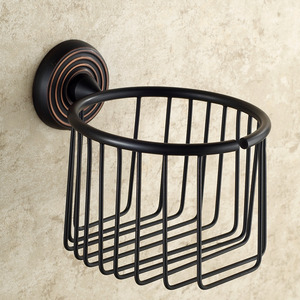 Black Oil Rubbed Bronze Toilet Paper Basket Holder
