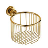 Polished Brass Bathtoom Toilet Paper Basket Holders
