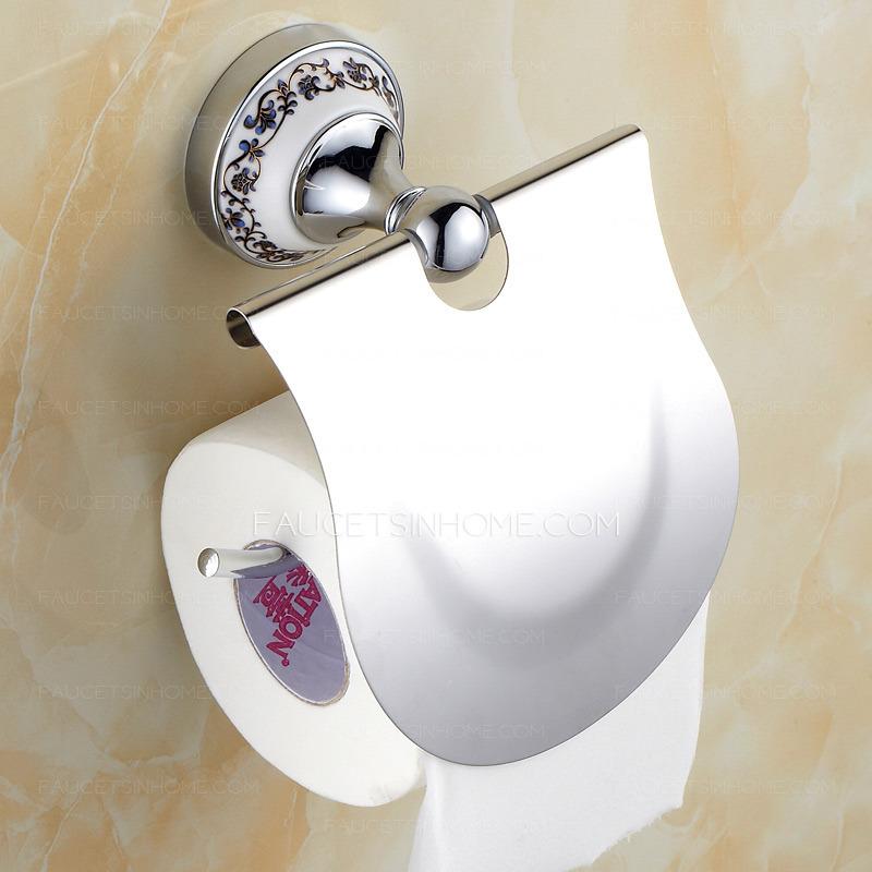 Unique Ceramic Silver Bathroom Toilet Paper Roll Holders