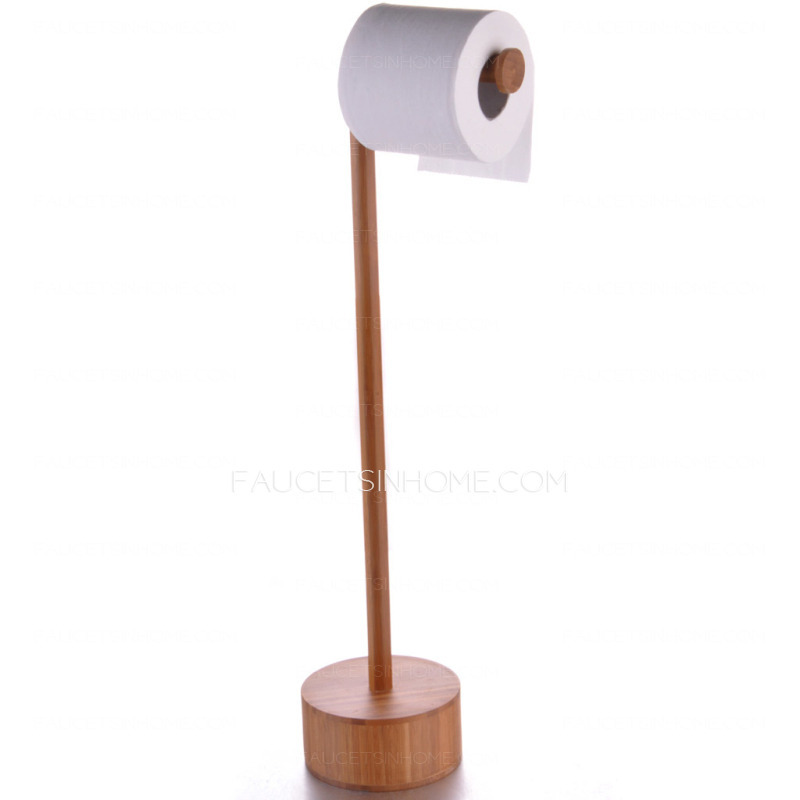 Unique Bamboo Bathroom Freestanding Toilet Paper Holders