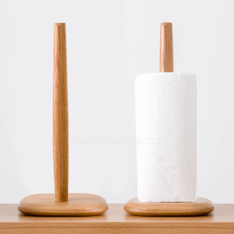Unique Bathroom Freestanding Wooden Toilet Paper Holder