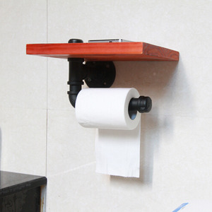 Unusual Black Wooden Wrought Toilet Paper Roll Holders