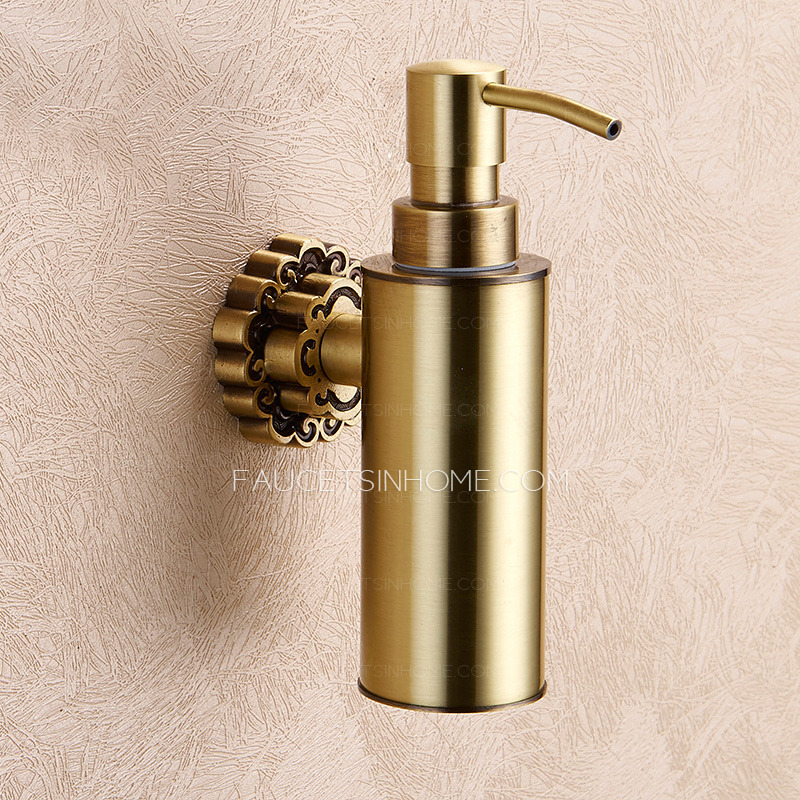 Wall Mounted Bronze Bathroom Liquid Soap Dispensers