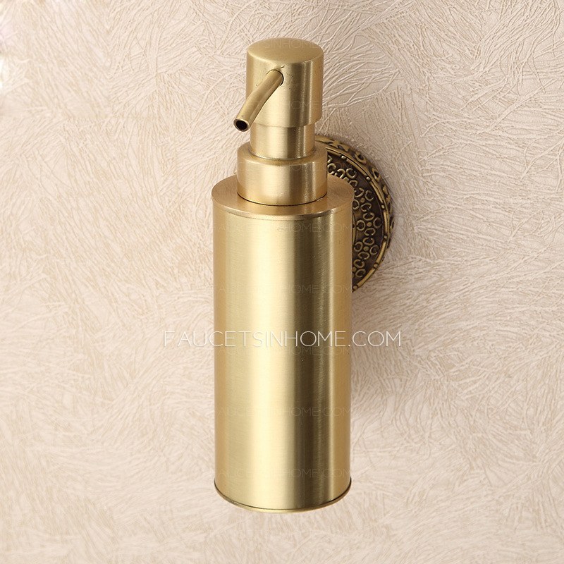 Vintage Polished Brass Wall Mount Soap Dispensers