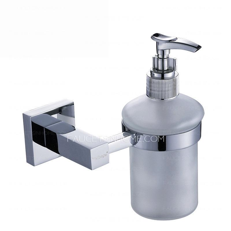 Modern Chrome Liquid Wall Mount Soap Dispensers
