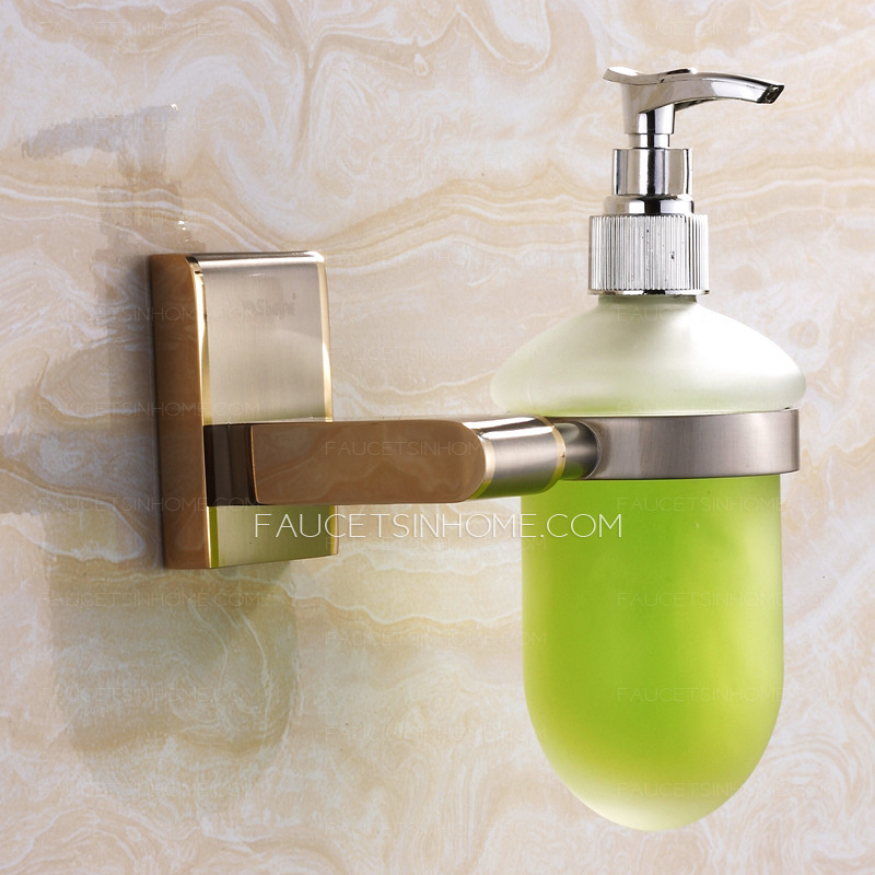 Golden Brushed Nickel Wall Mount Soap Dispensers