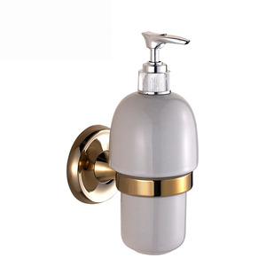 Vintage Polished Brass Soap Dispensers Wall Mounted
