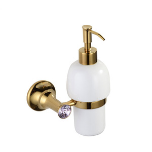 Wall Mount Antique Polished Brass Soap Dispensers