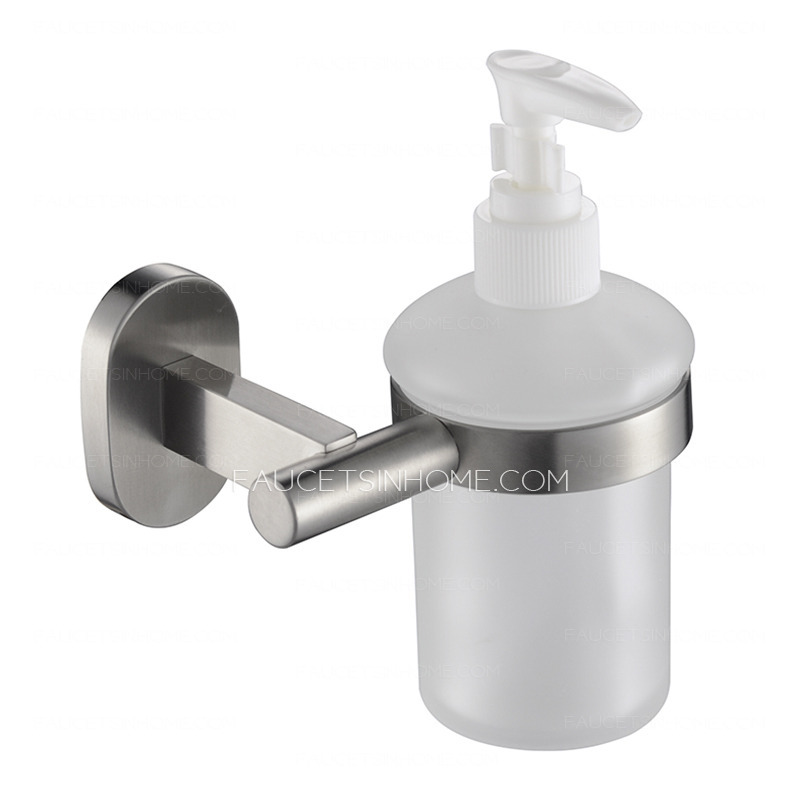 . Stainless Steel Brushed Nickel Wall Mount Soap Dispensers