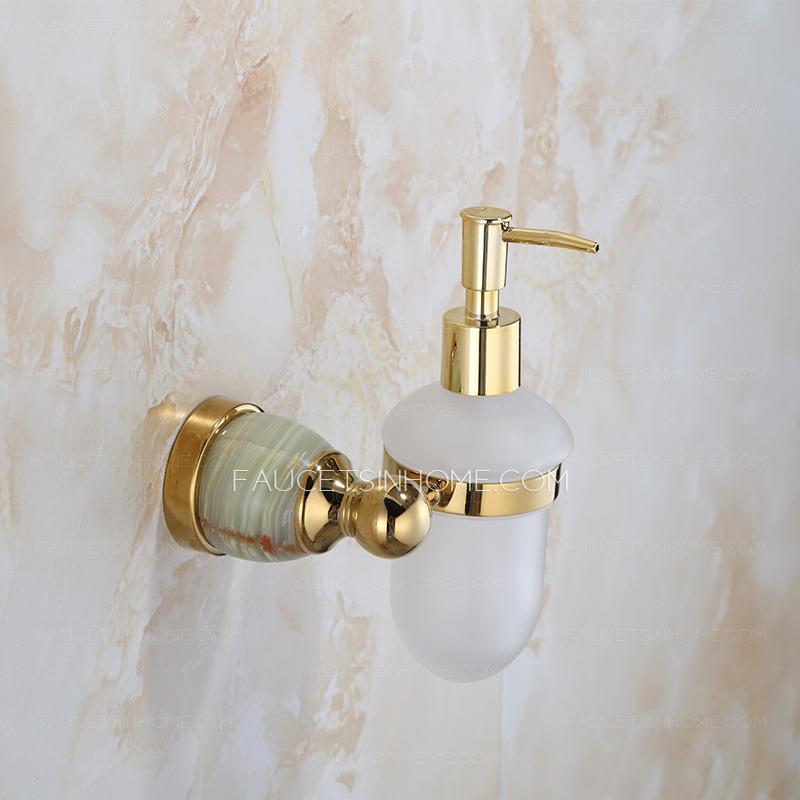 Golden Jade Decorative Soap Dispensers For Bathroom