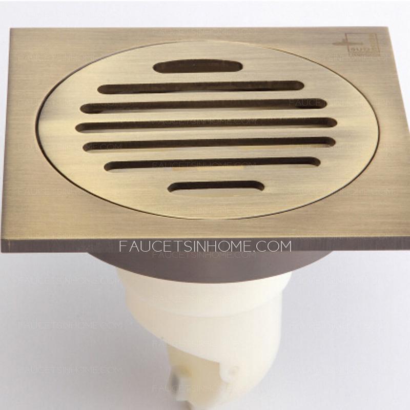 Antique Brass Bathroom Linear Shower Drains