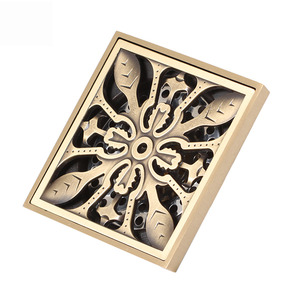 Decorative Brass Square Bath shower Drains