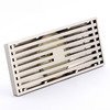 Brushed Nickel Linear Rectangular Shower Drains