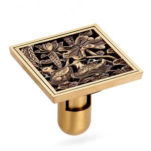 Decorative Antique Brass Custom Floor Drains
