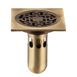 Custom Antique Bronze Bathroom Floor Shower Drains