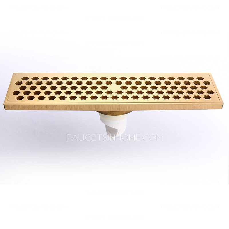 Modern Lengthening 30cm Brass Rectangular Shower Drains
