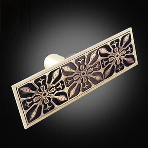 Decorative Antique Bronze Rectangular Shower Drains