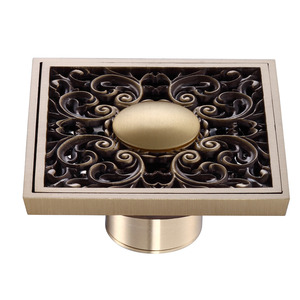 Custom Antique Bronze Bathroom Floor Decorative Shower Drains
