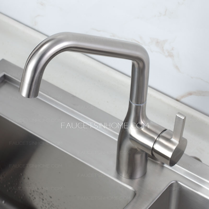 High End Kitchen Faucets : High End Rotatable Stainless Steel Kitchen Faucets Brushed Nickel