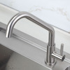 Inexpensive Single Hole Rotatable Kitchen Faucets Nickel Brushed