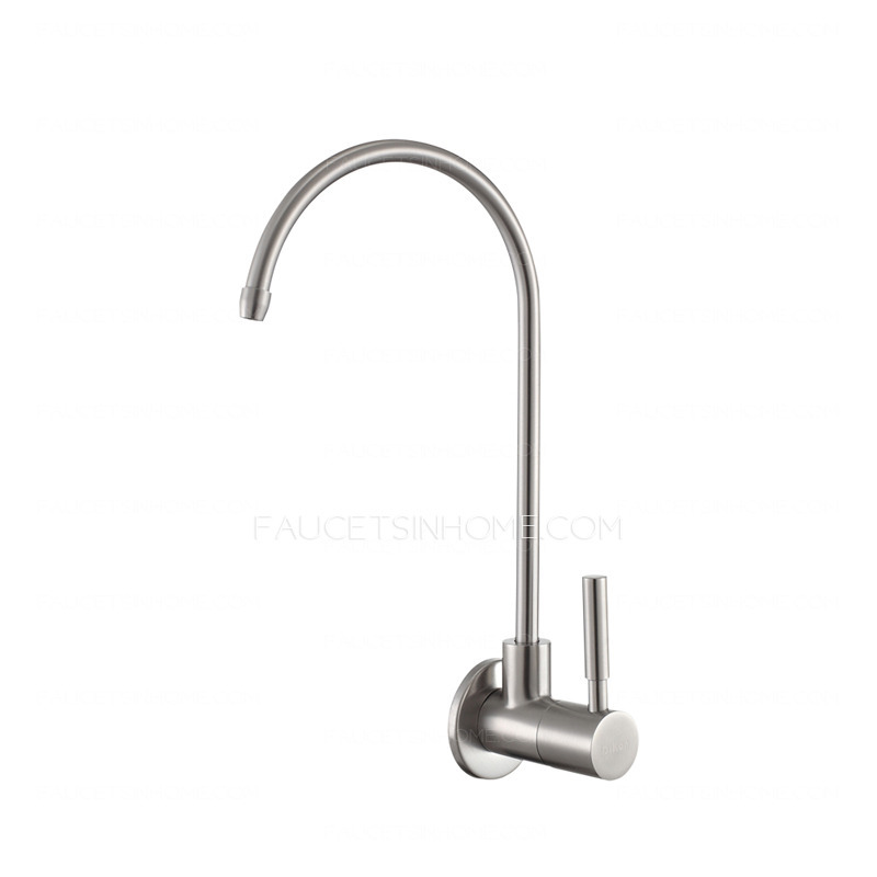 Discount Wall Mount Stainless Steel Drinking Kitchen Faucet Cold Water