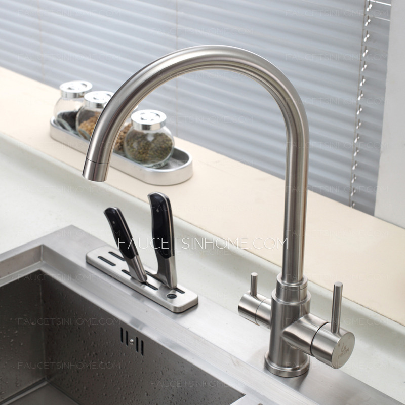 Amazing Advanced Stainless Steel Dual Rotatable Kitchen Faucet For Drinking Water