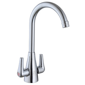 Inexpensive Brass Two Handle Vessle Mount Kitchen Faucets