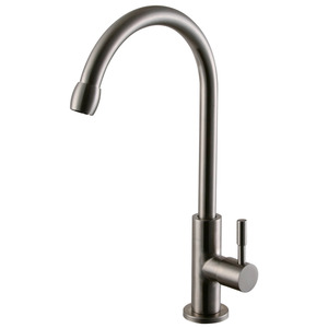 High Arc Stainless Steel Bio-Rotatable Kitchen Faucets Cold Water