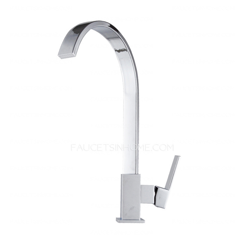 kitchen faucets designer goose neck rotatable brass kitchen faucets