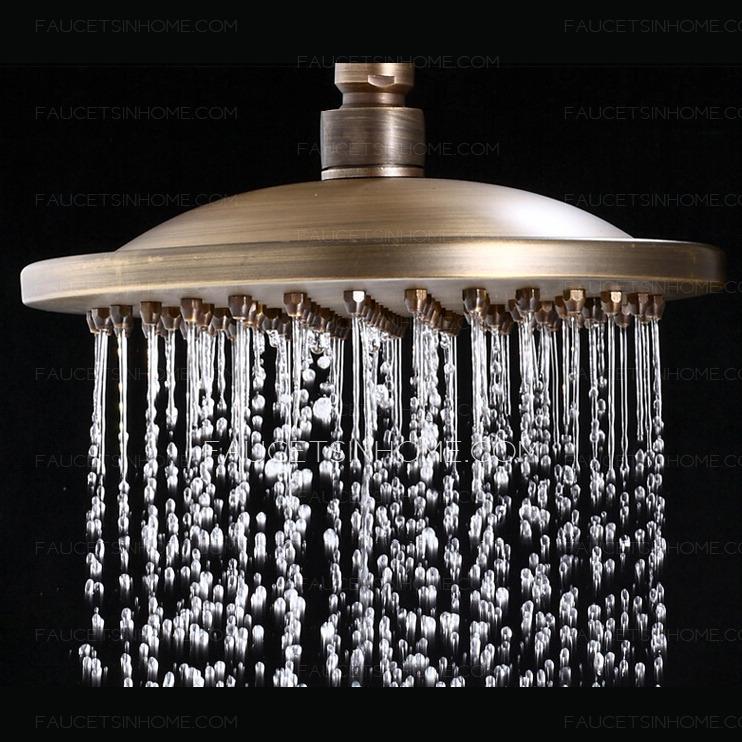 Ceramic Antique Brass Outside Shower Faucet System