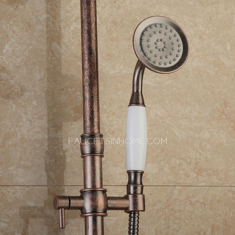unique rose rose gold brass shower faucet system