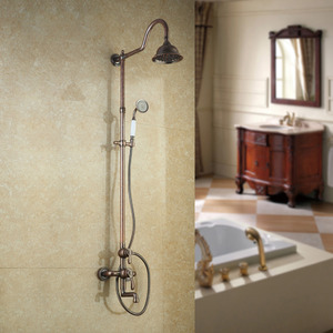 Unique Rose Rose Gold Brass Shower Faucet System