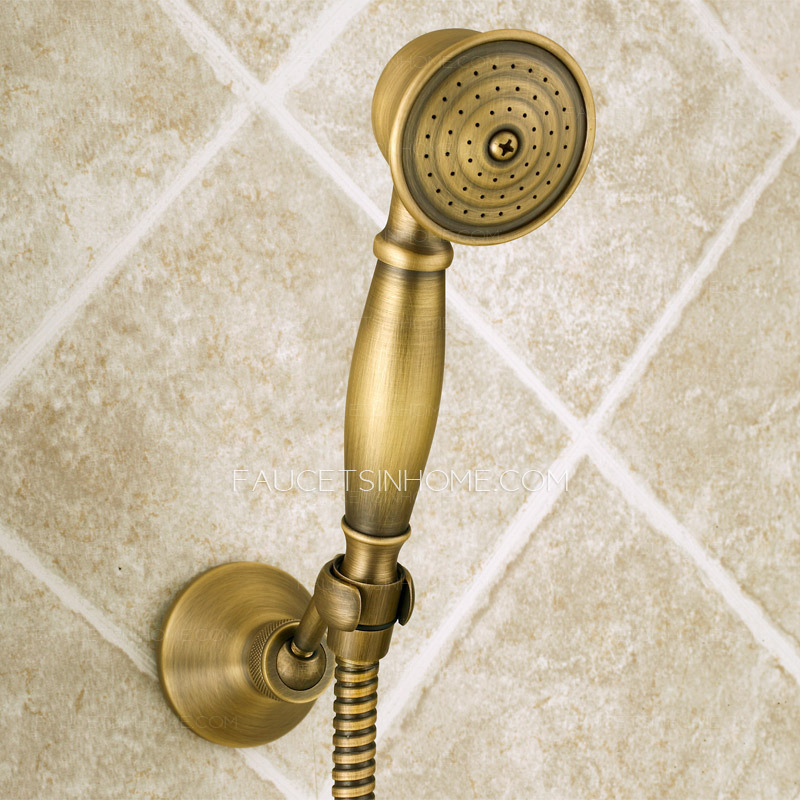 Unique Vintage Brass Tub And Shower Faucet Hand Shower Only